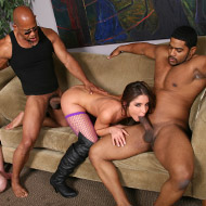 Giselle Leon in fishnet Lingerie gets banged by black Men from Cuckold Sessions