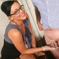 Cuckold eats cum from pussy of Ivy Winters from Cuckold Sessions
