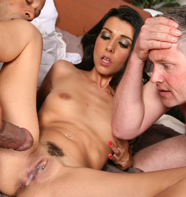 Hot Bride Lou Charmelle goes black in front of her Husband from Cuckold Sessions