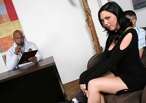 Sexy Megan Foxx Goes Black In Front Of Her Boyfriend  from Cuckold Sessions